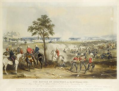 The Battle of Gujrat, Punjab; circa 1849; Second Anglo Sikh War
