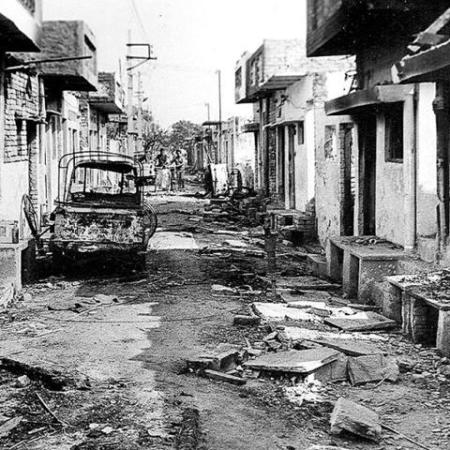 A street after rampage 1984