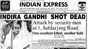 Indira Gandhi Shot Dead